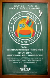 Whatcom County backpack and supply drive
