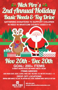 Holiday Basic Needs and Toy Drive in Bellingham WA